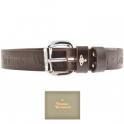 Vivienne Westwood Carolina Leather Belt Brown