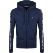 Tommy Hilfiger Lounge Full Zip Tape Hoodie Navy