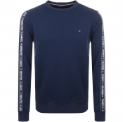 Tommy Hilfiger Lounge Track Top Sweatshirt Navy