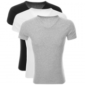 Tommy Hilfiger 3 Pack V Neck T Shirts