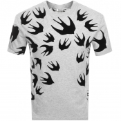 Product Image for MCQ Alexander McQueen Logo T Shirt Grey