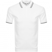 Product Image for MCQ Alexander McQueen Tipped Polo T Shirt White