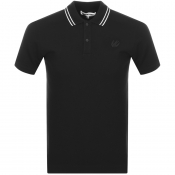 MCQ Alexander McQueen Tipped Polo T Shirt Black