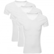 Tommy Hilfiger 3 Pack V Neck T Shirts White