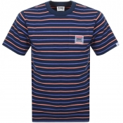 Billionaire Boys Club Stripe Pocket T Shirt Navy