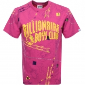 Billionaire Boys Club Nautical Logo T Shirt Pink