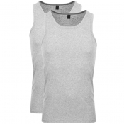 G Star Raw 2 Pack Vest T Shirt Grey
