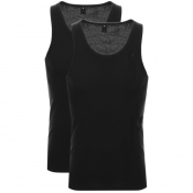 G Star Raw 2 Pack Vest T Shirt Black