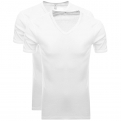 G Star Raw 2 Pack V Neck T Shirt White