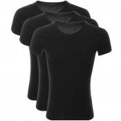 Tommy Hilfiger 3 Pack Crew Neck T Shirts Black