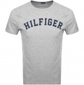 Tommy Hilfiger Logo T Shirt Grey