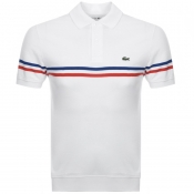 Product Image for Lacoste Short Sleeved Stripe Polo T Shirt White