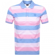 Product Image for Paul And Shark Striped Polo T Shirt Pink