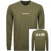 Converse All Star Logo Sweatshirt Green