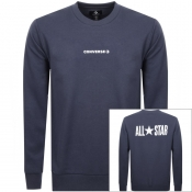 Product Image for Converse All Star Logo Sweatshirt Navy