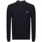 Product Image for Fred Perry Long Sleeved Polo T Shirt Navy