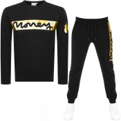 Money Block Sig Ape Crew Neck Tracksuit Black
