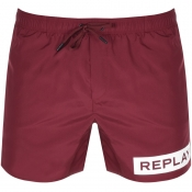 Replay Swim Shorts Burgundy