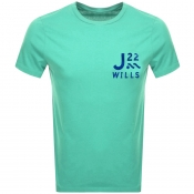 Product Image for Jack Wills Barford Short Sleeved T Shirt Green
