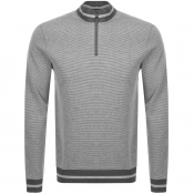 Product Image for BOSS HUGO BOSS Sidney 16 Half Zip Knit Jumper Grey