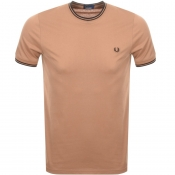 Product Image for Fred Perry Twin Tipped T Shirt Brown
