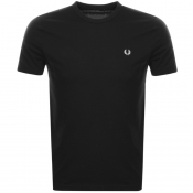 Fred Perry Ringer T Shirt Black