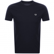 Fred Perry Ringer T Shirt Navy