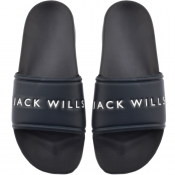Jack Wills Dunnock Pool Sliders Navy