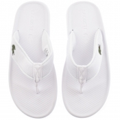 Product Image for Lacoste Croco Flip Flops White