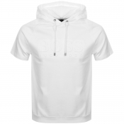 BOSS HUGO BOSS Heritage Short Sleeved Hoodie White
