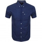 Luke 1977 Short Sleeved Wockneys Pencil Shirt Navy