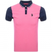 Luke 1977 Steve The Bouncer Polo T Shirt Pink