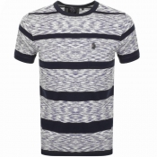 Product Image for Luke 1977 Spaces Cadet Stripe T Shirt Blue