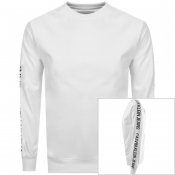 Product Image for Calvin Klein Jeans Logo Crew Neck Sweatshirt White