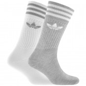 Product Image for Adidas Originals Two Pack Crew Socks Grey