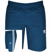 adidas Originals Three Stripe Swim Shorts Blue