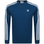 adidas Originals Long Sleeve T Shirt Blue