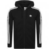 adidas Originals 3 Stripes Full Zip Hoodie Black