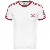 Adidas Originals 3 Stripe T Shirt White