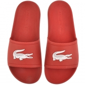 Lacoste Croco Sliders Red