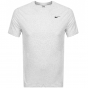 Nike Training Crew Neck Logo T Shirt Grey
