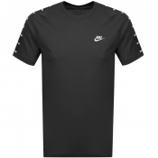 Product Image for Nike Swoosh 2 Logo T Shirt Black