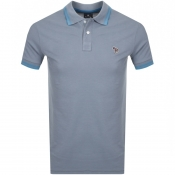 Product Image for PS By Paul Smith Slim Fit Zebra Polo T Shirt Grey