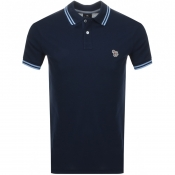 Product Image for PS By Paul Smith Slim Fit Zebra Polo T Shirt Navy