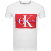 Product Image for Calvin Klein Jeans Monogram Box Logo T Shirt White