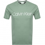 Product Image for Calvin Klein Logo T Shirt Green