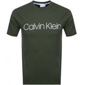 Product Image for Calvin Klein Logo T Shirt Khaki
