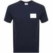 Product Image for Calvin Klein Box Logo T Shirt Navy