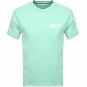 Product Image for Carhartt College Script Logo T Shirt Green