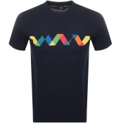 Product Image for PS By Paul Smith Multi Spiral T Shirt Navy